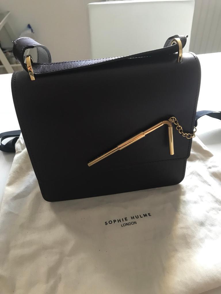 Sophie Hulme Aubergine Medium Straw Bag | in Barking, London | Gumtree