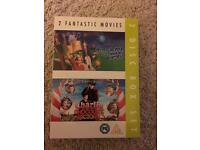 Charlie and the chocolate factory & Willy Wonka and the chocolate factory 2 film DVD boxset