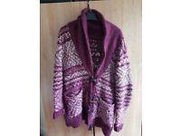 New look cardigan warm jumper winter size s small 8 10 6 pockets long