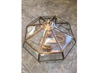 Antique Brass Effect Ceiling Light