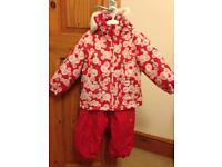Girls trespass ski outfit age 18-24 months