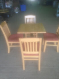 Square Beech Coloured Cafe/Bistro Table (Chairs not Included)