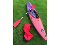 Kayak Perception Spark, spray deck, paddle canoe