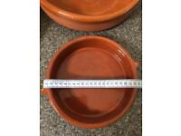 Terracotta cooking and serving dishes