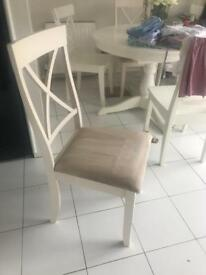 Twin Cream dinning seats for sale