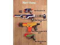 Nerf Guns x4