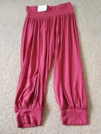 Crop hareem trousers red brand new with tags size 10
