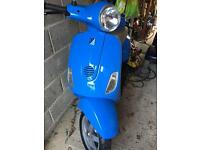 Vespa 50cc blue