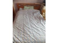 Divan double bed with mattress-only £60!!!!