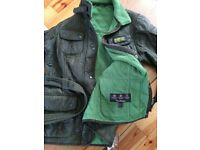Women's quilted Barbour coat jacket 14