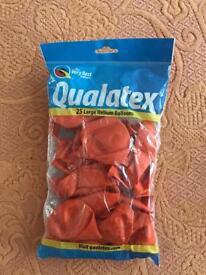 "Qualatex 11"" Pearl Mandarin Orange Latex Balloons Party decoration"