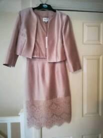 Pink dress and short jacket