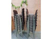 28x *JOB LOT* Wooden Conference Chair