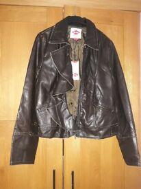 New woman Lee Cooper vintage PU jacket, size 14