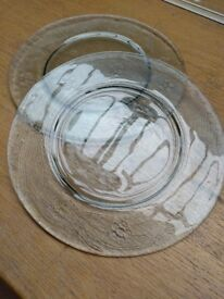 FOR SALE - 8 Glass Charger plates
