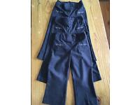 3x Girls grey school trousers M&S age 2-3