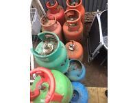 Gas bottle job lot x12