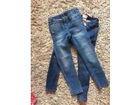 2 x girls next jeans age 7 / 8 years