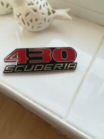 Ferrari 430 scuderia badge