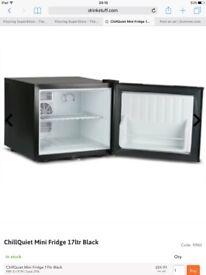 Black chillquiet mini fridge 17 ltr