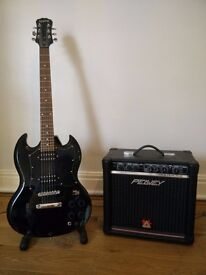 Epiphone SG G-310 Electric Guitar. Stand included. Amplifier optional.