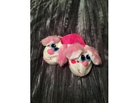 Girls stompeez slippers size small