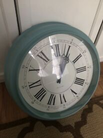 Bentima Large Living Room Duck Egg Blue Wall Clock