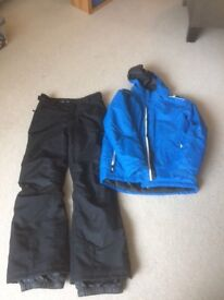 Ski Jacket and Trousers age 11-12 on excellent condition only used for 4 days