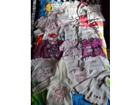 Baby girl newborn up to 3 months tops bundle of 19 , 0-3