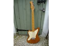 Left Handed, Stag, Electric Guitar,In Super Condition,Natural Timber.