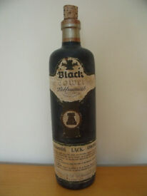 Vintage 1972 iconic empty Black Tower, Liebfraumilch, bottle complete with cork. £8 ovno. Can post.