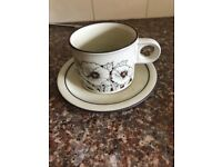 Hornsea corn rise cups and saucers