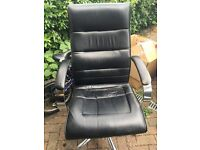 FREE - Black Leather Desk Chair