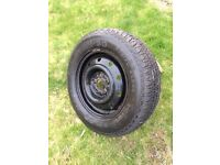 Spare wheel with brand new tyre