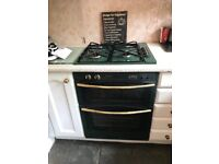 Electric double oven and gas hob
