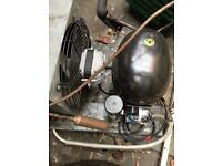 Commercial fridge display Compressor and fan