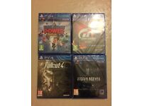 4X PS4 GAMES - BRAND NEW AND SEALED FOR PLAYSTATION 4 CONSOLE