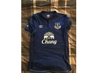 Everton FC home 2014/15 home and away shirts; top condition