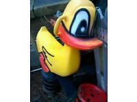 Garden spring duck toy