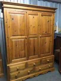 Triple pine wardrobes 5 Available Delivery poss