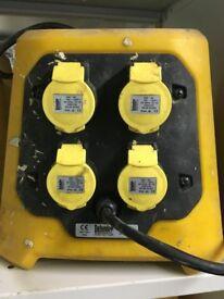 Defender 4 Way Splitter Box 110V 16A