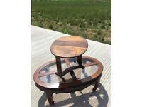 Small mahogany side table