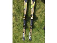 Rossignol 8s oversize skis for sale with bindings (158 cm ) . These are in excellent condition