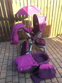 Purple stokke