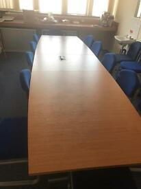 Boardroom Table Seats included 12 x Blue Seats