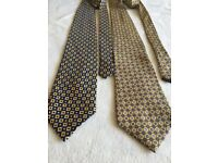 Nice lot of 2 silk ties with yellow colour