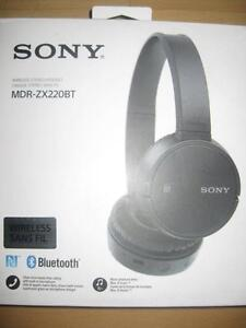 Sony On Ear Bluetooth Headphones / Headset with Mic. NFC. Rechargeable. 8 hour. Samsung Galaxy Smart Phone / iPhone. NEW