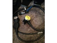Diving /breathing equipment jackets , boots , shoes, flippers 3 suits , snorkels, bargIn