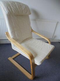 Ikea Poang Armchair, Birch Frame