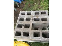 215 hollow concrete blocks